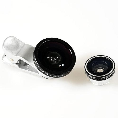 Lieqi 3 in 1 Super Wide-angle 0.4X Fish Eye 180 Degree Macro 10X Photo Lens