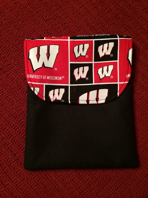 Univ WI Top Load Cloth Tablet Sleeve with snap Top