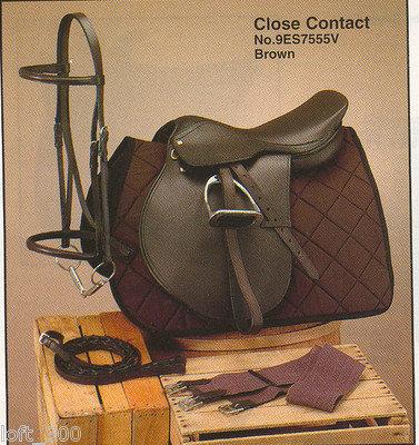 17.5 Silver Fox Close Contact Leather English Sadd