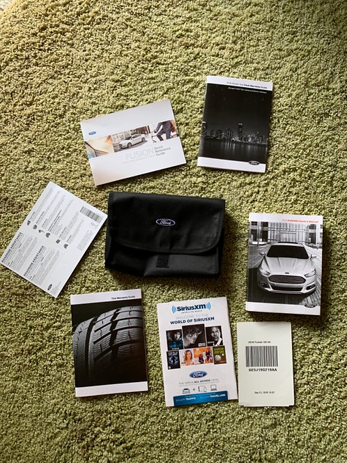 2016 Ford Fusion US Owners Manuals Kit GE5J19G219AA