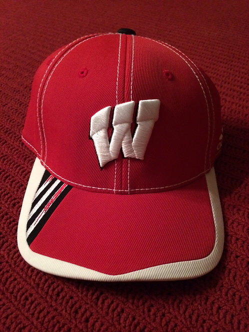 University Wisconsin Badgers Adidas Youth Visor