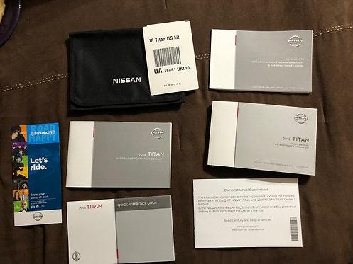 2018 Nissan Titan Owners Manual Kit Case & Manuals