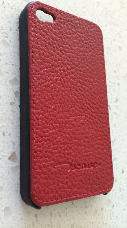 Incase Red Black Leather-Like iPhone 4/4s Case