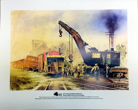 2013 National Railroad Museum Membership Print