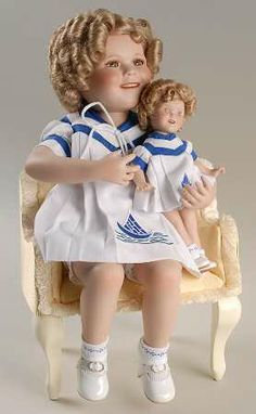 """The Danbury Mint """"Sailor Girls"""" Two Of a Kind Doll"""
