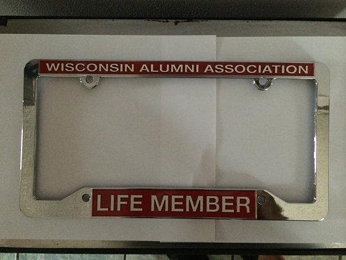 UW Alumni Life Member License Plate Frame