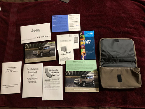 2017 Jeep Renegade Manuals & Cloth Case P1469123