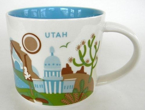 Starbucks Utah 14oz Ceramic Coffee Mug YAH