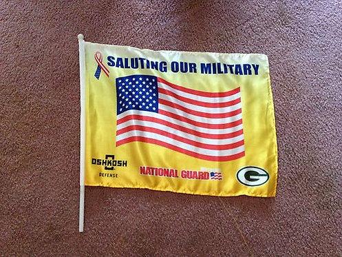 Green Bay Packers Small Yard Flag - Yellow Green