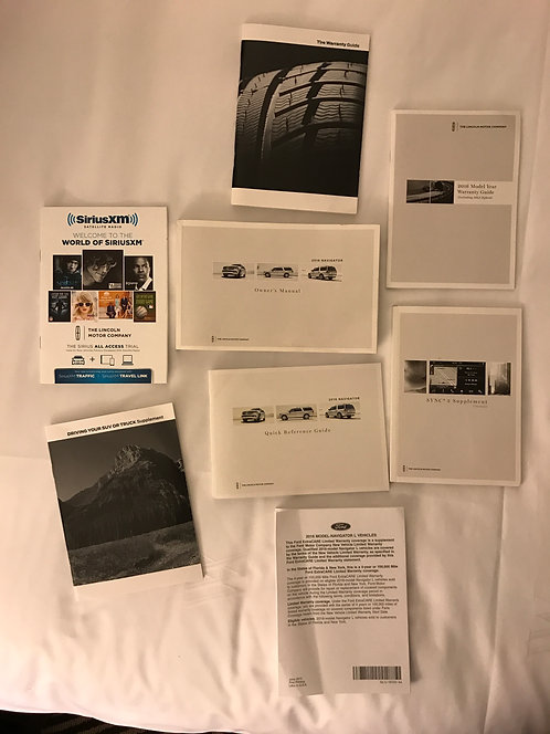 2016 Ford Lincoln Mercury Navigator Owner Manual