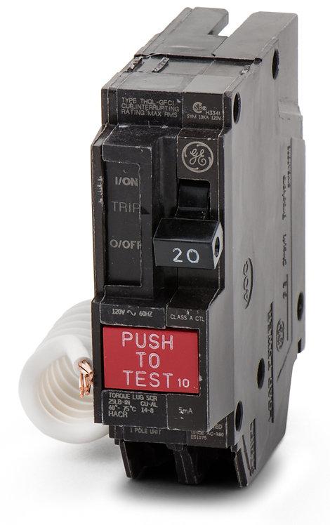 GE THQL1115GF - 1 Pole 15amp 120vac Breaker