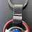 Thumbnail: Ford Steering Wheel 001786 Key Chain Brown/Chrome/Leather