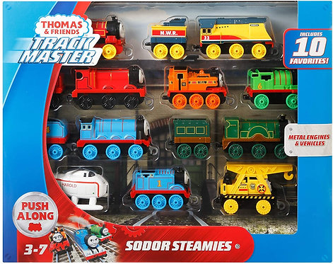 Thomas and Friends TrackMaster, Sodor Steamies, multicolor (GFF07) - Metal