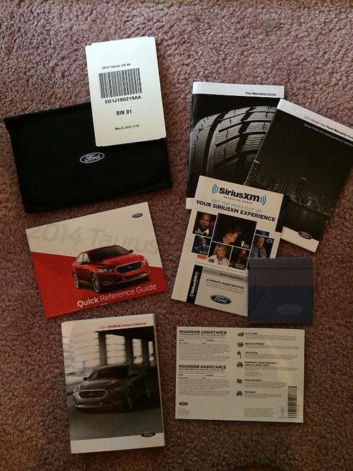 2014 Ford Taurus Owners Manual Kit EG1J19G219AA