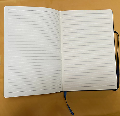 Embossed Specialty Hard Bound Note Book with Lined Note Pages