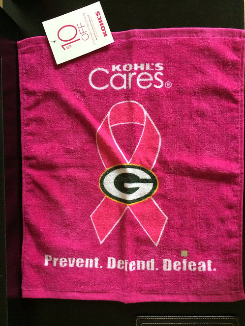 Green Bay Packers Breast Cancer Pink Rally Towel