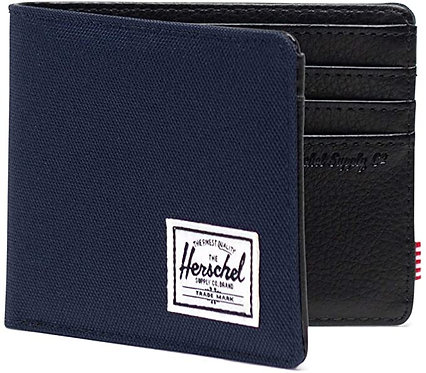 Herschel Hank BiFold Wallet 10049-HANK Exhatch and Black
