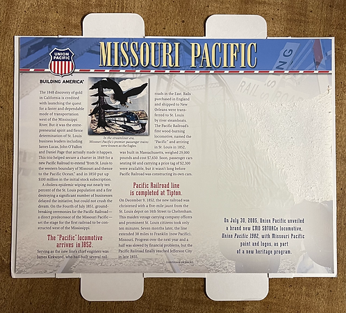 Missouri Pacific RR Fact Card - NO PATCH INCLUDED