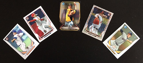 5pk Assorted Grab Bag Minor League Topps BB Cards