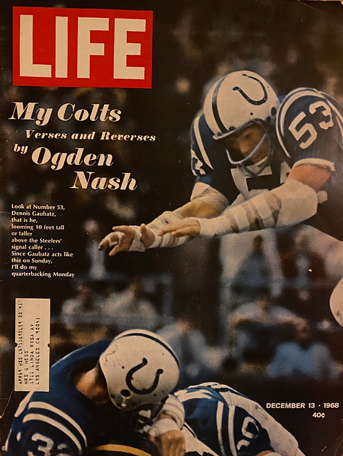 Life Magazine December 13 1968 Issue - My Colts