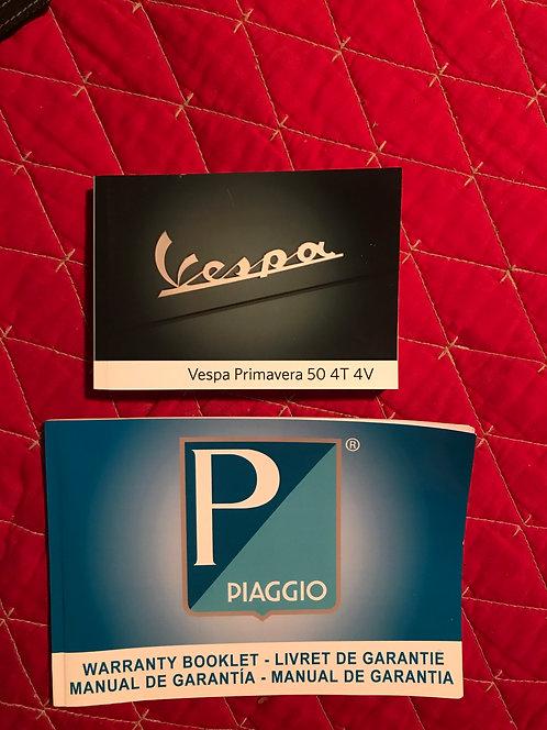 2018 Piaggio Vespa Primavera 504T4V Owners Manuals