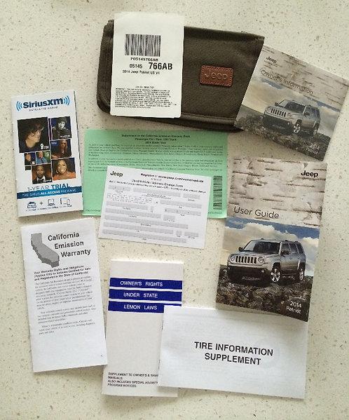 2014 Jeep Patriot Owner Manuals, Cloth Case & DVD