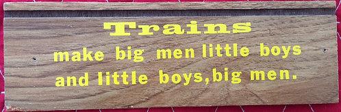Little Boys Train Enthusiast Plaque - 3 x 9.5in