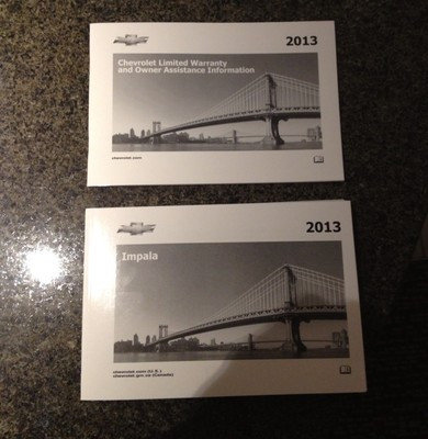 2013 Impala Owner Manuals Kit US (22800551)