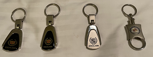 Lot of 4 Officially GM Officially Licensed Cadillac Escalade Keyrings