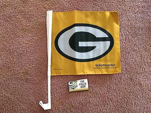 Green Bay Packers Logo 2012 Gameday Car Flag