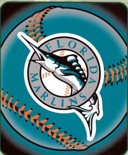 MLB Florida Marlins Fleece Throw Blanket