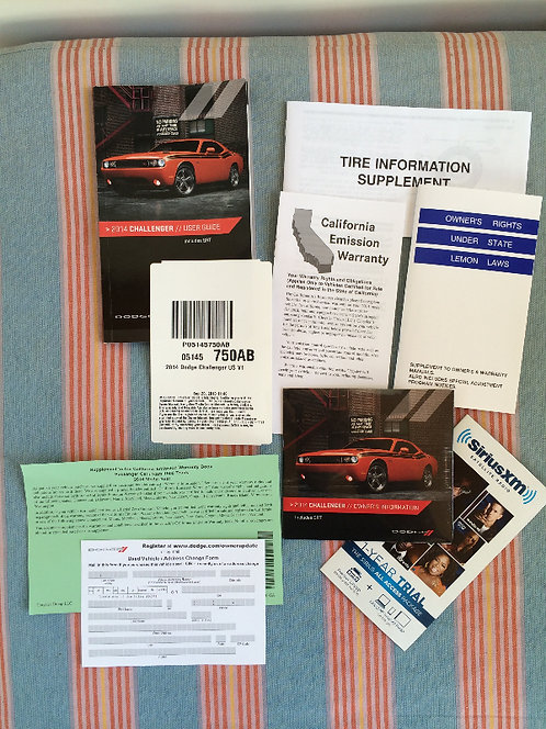 2014 Dodge Challenger Owners Portfolio P05145750A