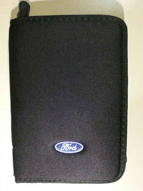 Ford Zippered Owners Black Glove Box Wallet w/Logo