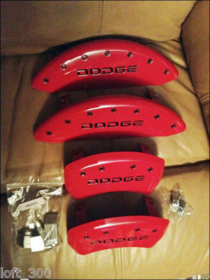 2010 Dodge Challenger V6 Red Caliper Covers with B