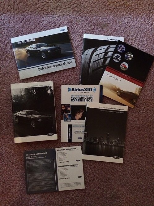 2013 Ford Mustang Owners Manual Kit in Cloth Case