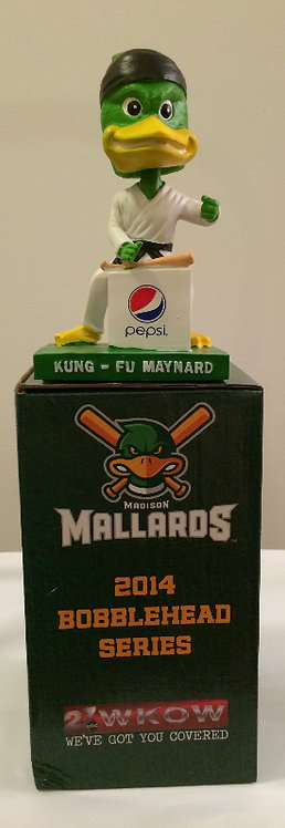 Madison Mallards 2014 Bobblehead Kung Fu Maynard