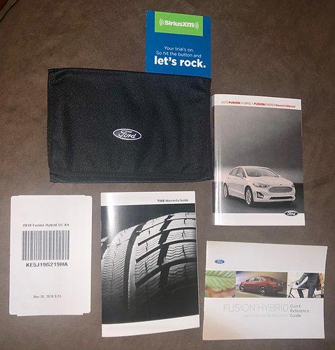 2019 Ford Fusion Hybrid US Owners Manuals Kit KE5J19G219HA