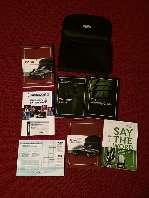 2012 Ford Fusion Owner Manuals, Guide Books Kit