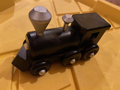 Finished Wood Locomotive Train: 6L x 3W x 3H inches