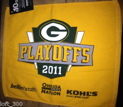 Green Bay Packers 2011 Playoffs Rally Towel