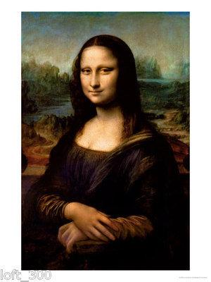 Claude Monet (Mona Lisa Davinici) Art Poster Print
