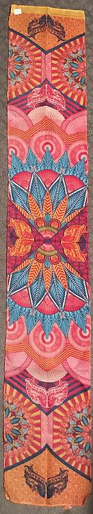 Lot of 4 Fanciful Cloth Panels 53L x 9W inch