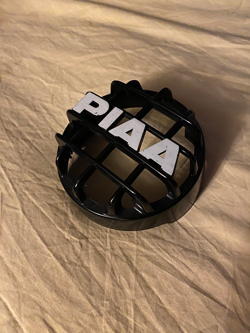 PIAA 05106 Lens Grill (Grill ONLY) Black with White Block Lettering