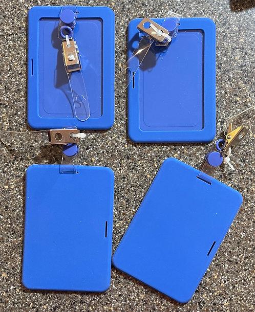 Windowed Rubbery ID Holder (4 Pack)