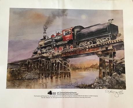 2017 National Railroad Museum Membership Print