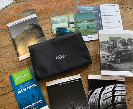 2018 Ford Escape US Owners Manuals Kit with Case