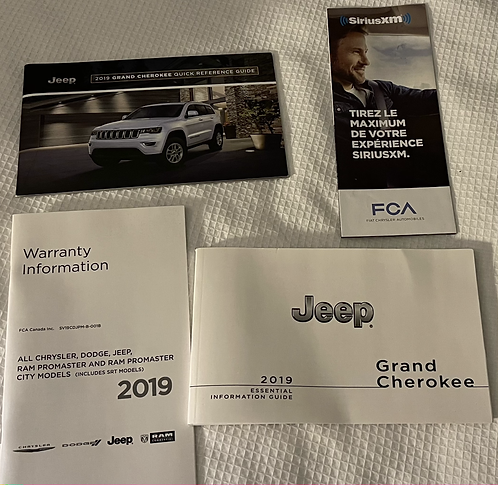 2019 Jeep Grand Cherokee Owner's Manual Kit P68434631AA