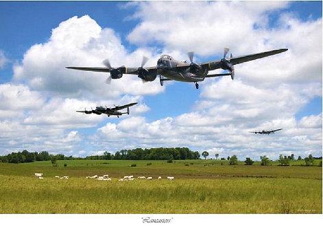 Jeff Stephenson 'Lancasters'  Print with Post Card