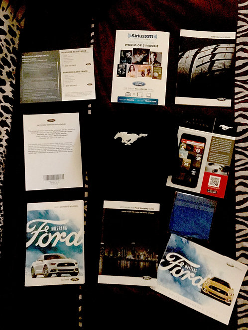 2017 Ford Mustang Owners Manual Portfolio