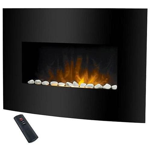 Prolectrix NV341 Black Glass Wall Mount Fireplace